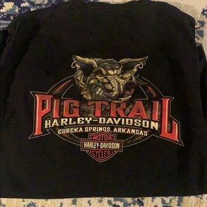 Vintage Harley Davidson Pig Trail Eureka Springs